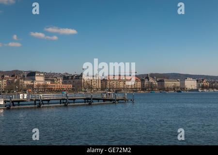 Zurich Lake Switzerland - Stock Photo