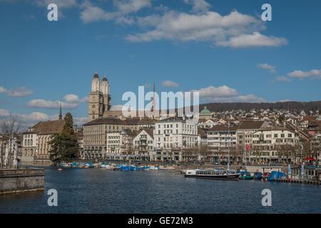 Zurich city in Switzerland - Stock Photo