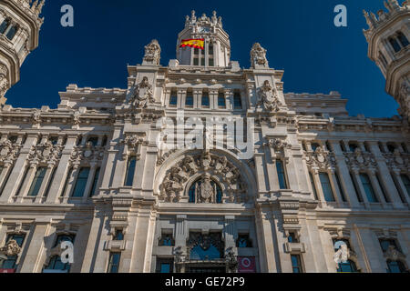 Communication Palace in Madrid Spain - Palacio de Comunicaciones - Stock Photo