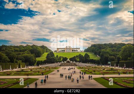 Schönbrunn Palace in Vienna Austria - Stock Photo