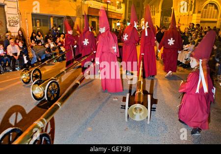 `Bocinas´.Easter Monday procession.(Cofradia del Santísimo Cristo del Perdón).Holy Week. Murcia. Spain - Stock Photo