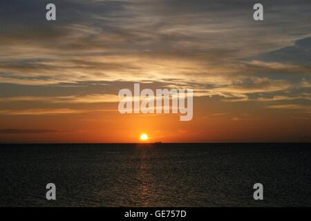 Sunrise over sea - Stock Photo