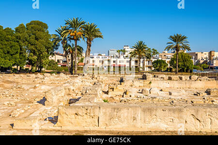 Ancient Kition, an archaeological site in Larnaca - Cyprus - Stock Photo