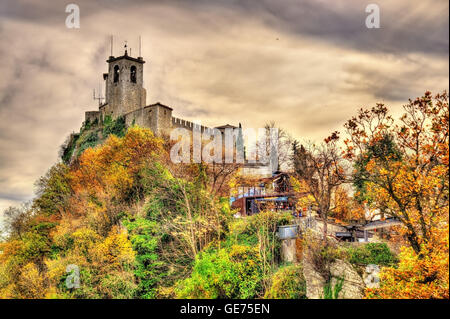 Guaita, the First Tower of San Marino - Stock Photo