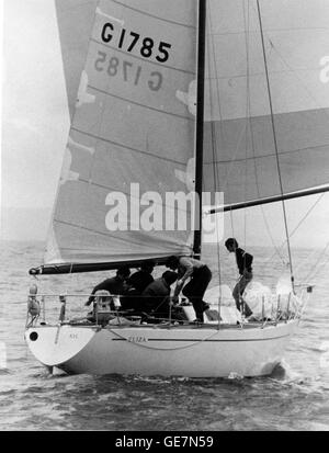AJAX NEWS PHOTOS. JULY 19TH ,1974. TORQUAY, ENGLAND. - 1 TON WORLD CHAMPIONSHIPS - ELIZA,  HOT FAVOURITE OF THE - Stock Photo