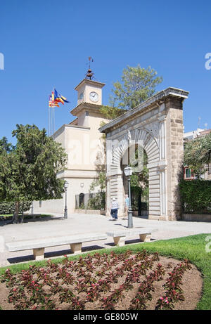 La Llotja gothic exterior in Palma de Mallorca, Balearic islands, Spain on April 13, 2016. - Stock Photo