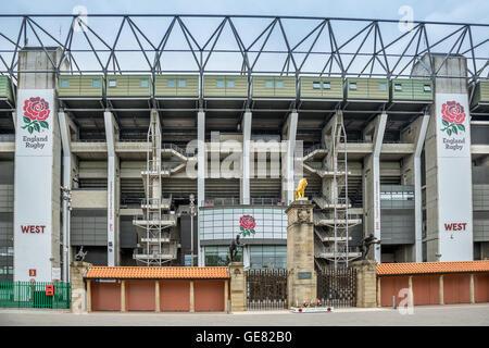 Twickenham Stadium in south west London - Stock Photo