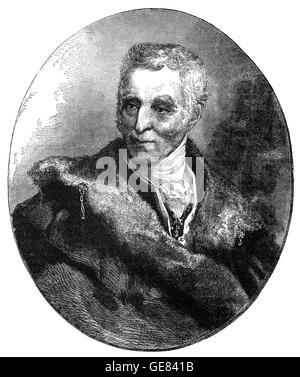 Field Marshal Arthur Wellesley, 1st Duke of Wellington, (1769 – 1852), was an Anglo-Irish soldier and statesman. - Stock Photo