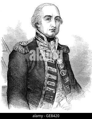 Vice Admiral Cuthbert Collingwood, 1st Baron Collingwood (1748 – 1810) was an admiral of the Royal Navy. He worked - Stock Photo