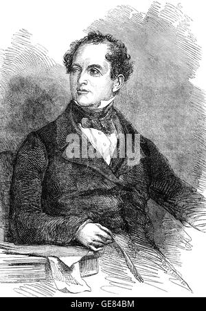 Thomas Moore (1779 – 1852) was an Irish poet, singer, songwriter, and entertainer,  best remembered for the lyrics - Stock Photo