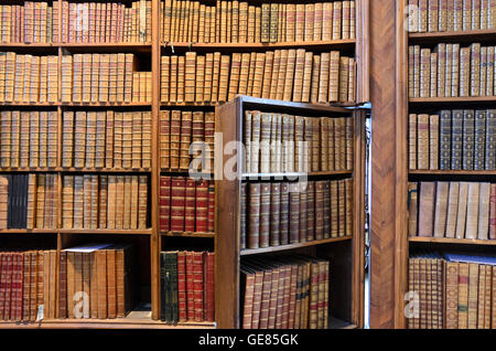 Wien, Vienna: State Hall of the Austrian National Library : Books and door with bookcase, Austria, Wien, 01. - Stock Photo