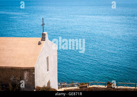view of Little church of balai in a sunny day of summer - sardinia - Stock Photo