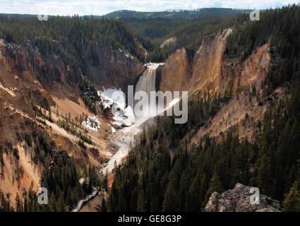 Lower Falls Yellowstone River - Stock Photo