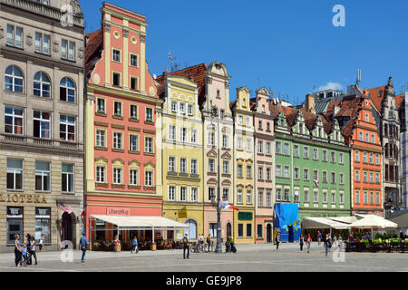 Market Square in the Old Town of Wroclaw. - Stock Photo