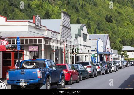 Buckingham Street, Arrowtown, New Zealand - Stock Photo