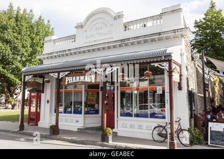 Arrowtown pharmacy, New Zealand - Stock Photo