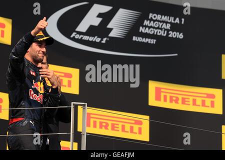 24.07.2016. The Hungaroring Mogyoród, Hungary. Formula 1 grand prix of Hungary, Race Day.  Red Bull Racing - Stock Photo