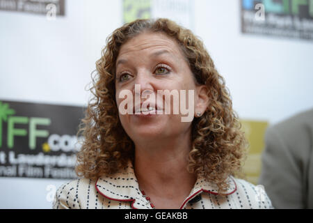 FORT LAUDERDALE, FL - NOVEMBER 11: Debbie Wasserman Schultz attends The 29th Annual Fort Lauderdale International - Stock Photo