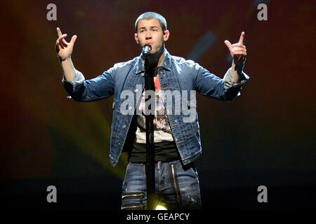 Toronto, ON. 23rd July, 2016. Nick Jonas on stage for The Future Now Tour, Air Canada Centre, Toronto, ON July 23, - Stock Photo