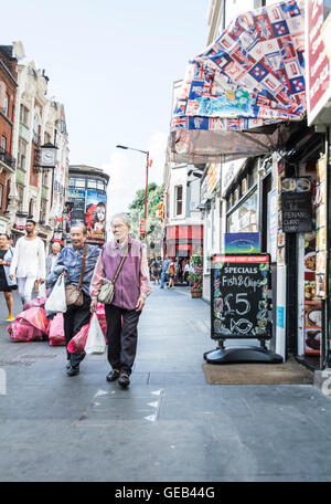 Chinatown on Wardour Street in Soho, London, England, - Stock Photo
