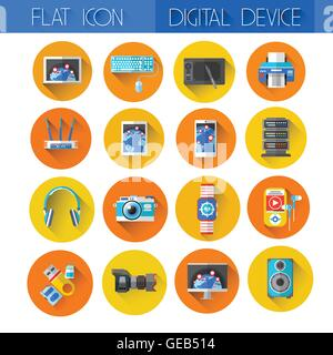Digital Devices Icon Set Collection - Stock Photo
