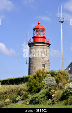 Lighthouse of Granville, a commune in the bay of Saint-Michel in the Manche department in Lower Normandy in north - Stock Photo