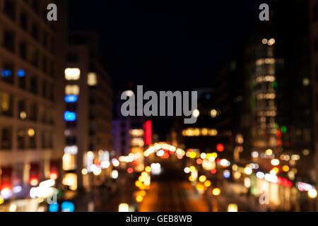 Berlin big city lights - Stock Photo