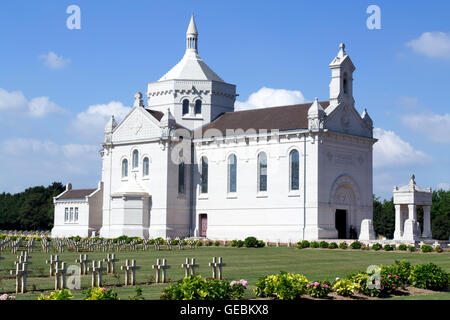 Notre Dame de Lorette, also known as Ablain St.-Nazaire French Military Cemetery - Stock Photo