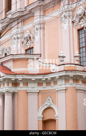 A detail of St Catherines church, an important and historical piece of architecture in the old town of Vilnius, - Stock Photo