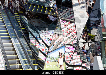 TOKYO JAPAN - JUNE 1,2016 :Entrance of Plaza building, Tokyu Plaza Omohara is a fashion theme park department store - Stock Photo