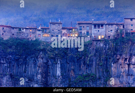 Castellfollit de la Roca,Girona province, Catalonia, Spain - Stock Photo