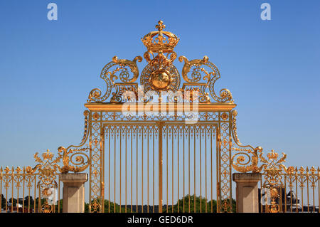 The Gate Of Honour , Palace Of Versailles, France, Europe - Stock Photo