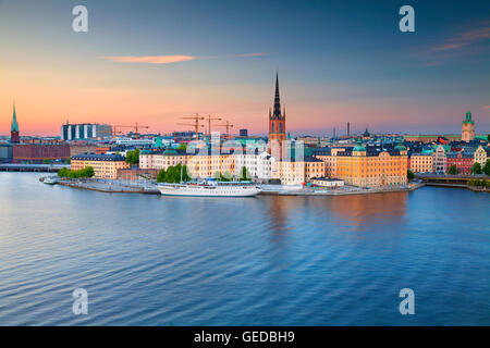 Stockholm. Image of Stockholm, Sweden during twilight blue hour. - Stock Photo