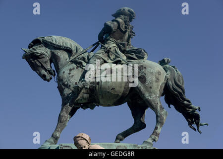 Equestrian statue of prince Eugene of Savoy - Stock Photo