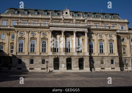 southern wing of Hungarian National gallery in Royal palace - Stock Photo
