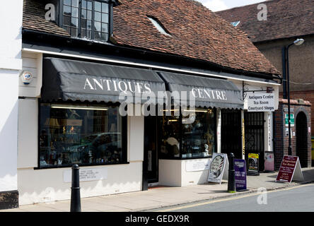 The Antiques Centre in Ely Street, Stratford-upon-Avon, UK - Stock Photo