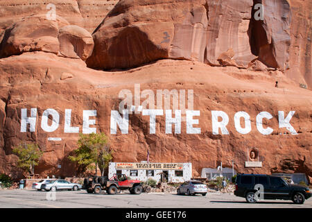 Hole in the Rock house in Moab Utah - Stock Photo