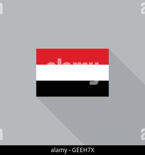 Yemen flag flat design - Stock Photo