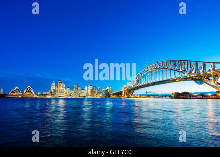 Sydney CBD and Harbour Bridge - Stock Photo