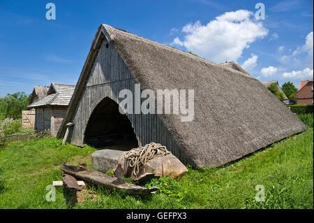 Slavian village, Oldenburg in Holstein - Stock Photo