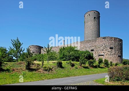 Castle Muenzenberg, Wetteraukreis, Hesse - Stock Photo
