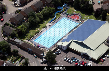 Overhead view of lanes of swimming pool stock photo royalty free image 47841776 alamy for Banbury swimming pool timetable