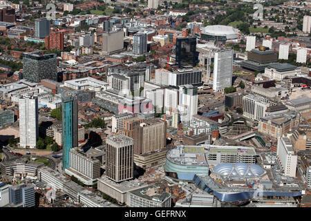 aerial view of Birmingham city centre, UK - Stock Photo