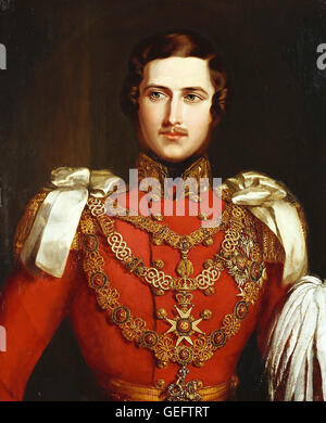 PRINCE ALBERT OF SAXE-COBURG AND GOTHA (1819-1861) Prince Consort to Queen Victoria. Painted by John Partridge in - Stock Photo