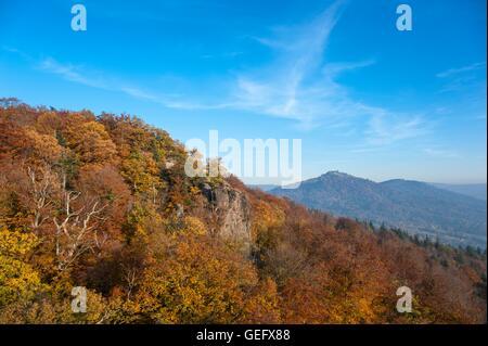 Merkur with Battert rock, Black Forest