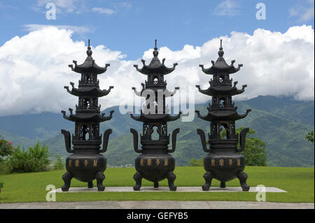 Temple Dong Fu Zan, Taiwan - Stock Photo