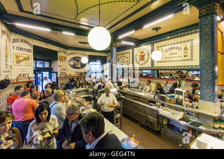 Tapaz Bar in Bilbao, Basque Country, Spain - Stock Photo