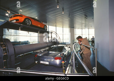 The Audi museum mobile, Ingolstadt, Bavaria. Germany. Europe - Stock Photo