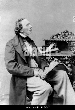 Hans Christian Andersen (1805-1875), the Danish author famous for his fairy tales. Undated photograph by George - Stock Photo
