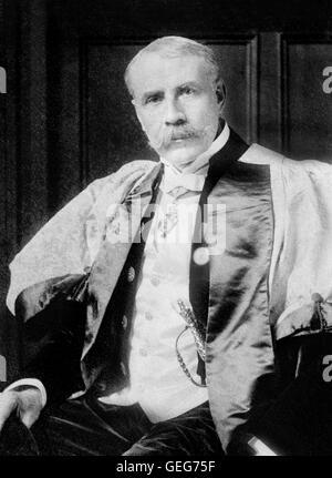Edward Elgar. Portrait of the English composer Sir Edward William Elgar (1857-1934). Photo from Bain News Service, - Stock Photo